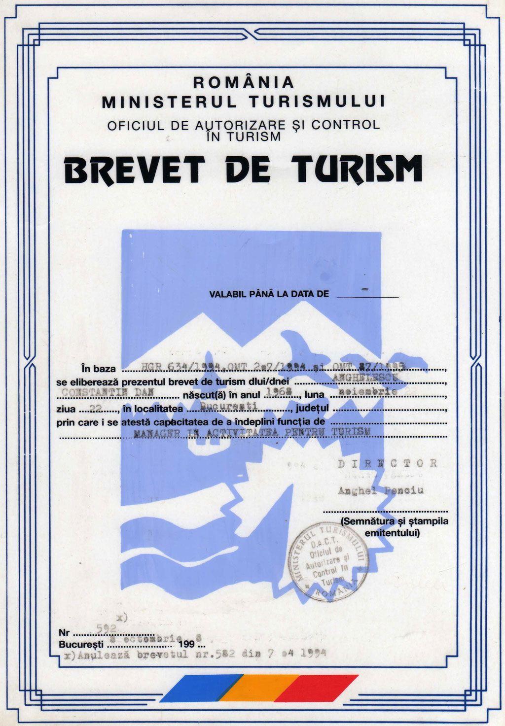 BREVET Turism Dan ANGHELESCU